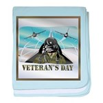 Veterans Day baby blanket