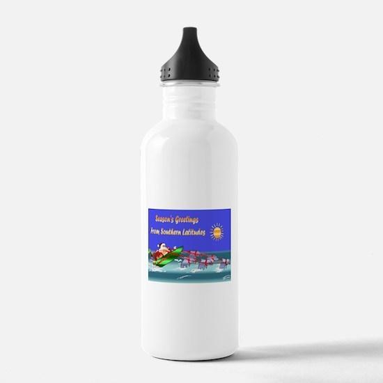 Dolphin Santa Water Bottle