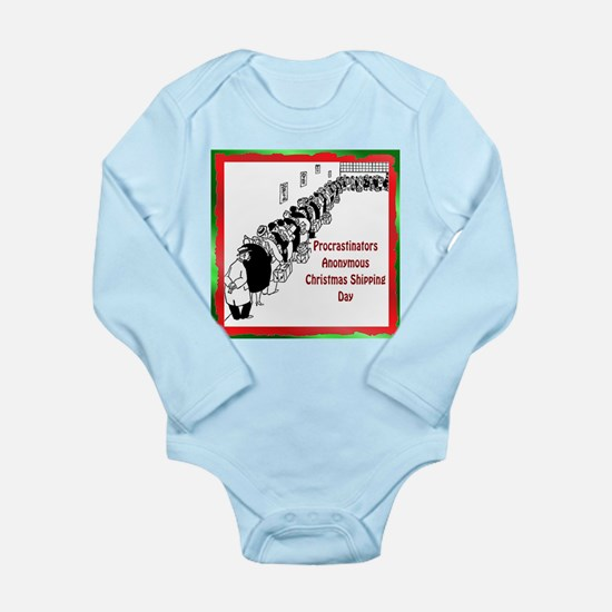 Holiday Cards Long Sleeve Infant Bodysuit