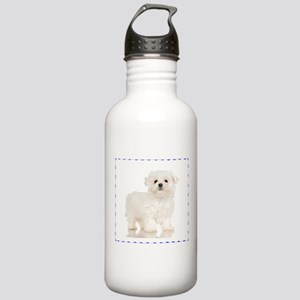 Maltese Puppy Stainless Water Bottle 1.0L