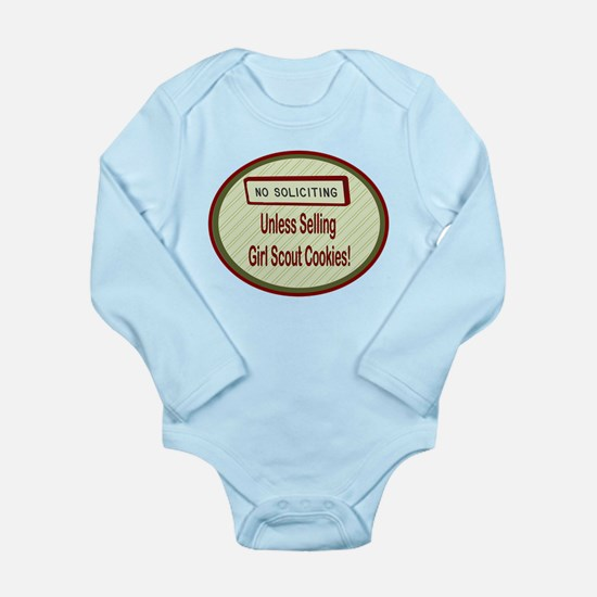 No Soliciting Long Sleeve Infant Bodysuit