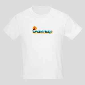 Avalon NJ - Beach Design Kids Light T-Shirt
