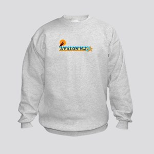 Avalon NJ - Beach Design Kids Sweatshirt
