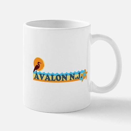 Avalon NJ - Beach Design Mug