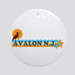 Avalon NJ - Beach Design Ornament (Round)