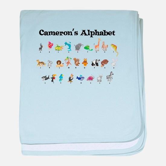 Cameron's Animal Alphabet baby blanket