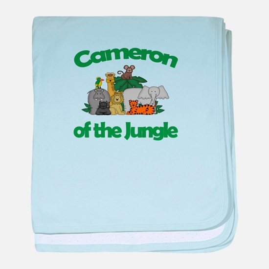 Cameron of the Jungle baby blanket