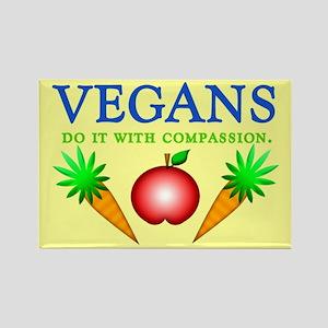 Vegans Do It... Rectangle Magnet