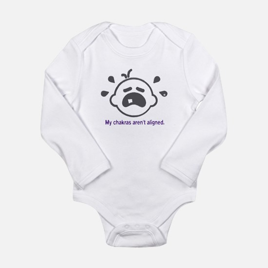Yoga Chakras - Long Sleeve Bodysuit (Purple)