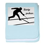 Strip Poker baby blanket