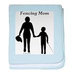 Fencing Mom baby blanket
