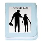 Fencing Dad baby blanket