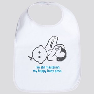 Yoga Happy Baby - Bib (Blue)