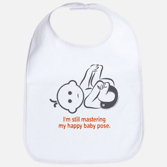 Yoga Happy Baby - Bib (Orange)