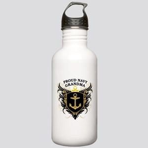 Proud Navy Grandma Stainless Water Bottle 1.0L