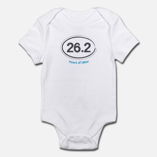Running 26.2 - Infant Bodysuit (Blue)