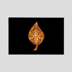 """Gold Leaf """"Leaf"""" Rectangle Magnet"""