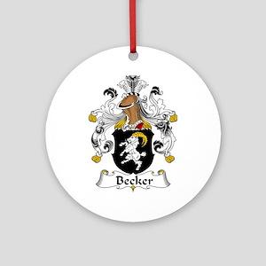 Becker Ornament (Round)