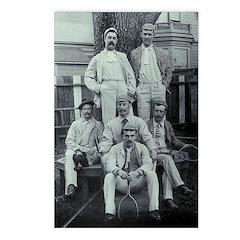Edwardian Tennis Team Postcards (package Of 8)