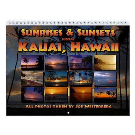 Kauai Sunsets & Sunrises Wall Calendar