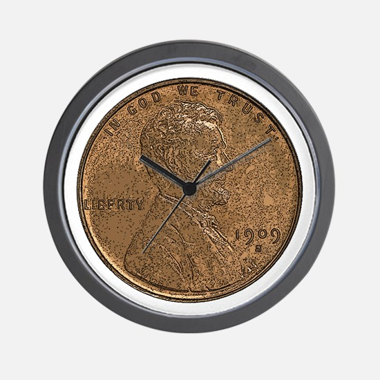 Lincoln Wheat Obverse Wall Clock