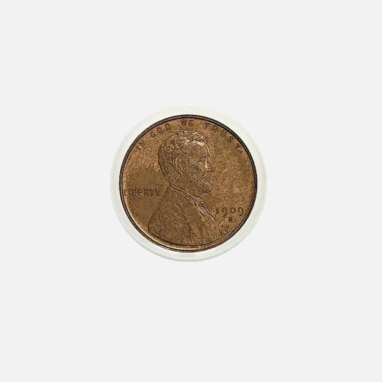 Lincoln Wheat Obverse Mini Button