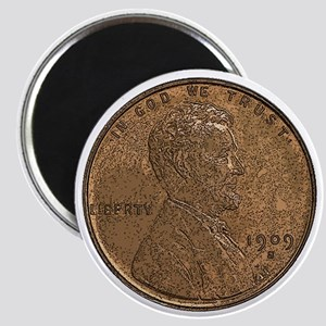 Lincoln Wheat Obverse Magnet