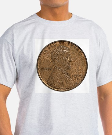 Lincoln Wheat Double-Sided Ash Grey T-Shirt