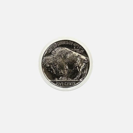 Buffalo Nickel Reverse Mini Button