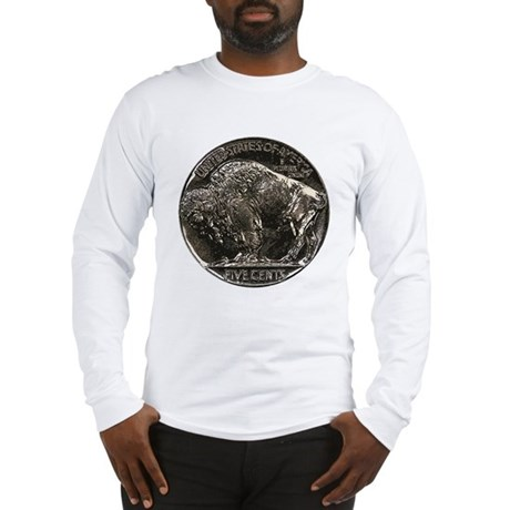 Buffalo Nickel Reverse Long Sleeve T-Shirt