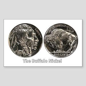 Buffalo Nickel Double-Sided Rectangle Sticker