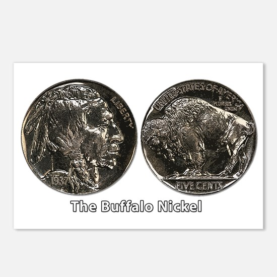 Buffalo Nickel Double-Sided Postcards (Package of