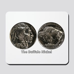Buffalo Nickel Double-Sided Mousepad