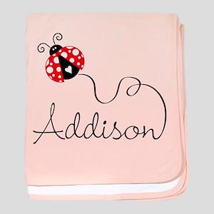 Ladybug Addison baby blanket