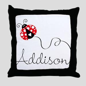 Ladybug Addison Throw Pillow