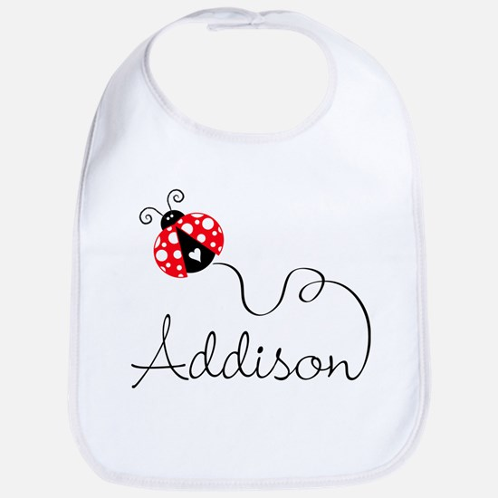 Ladybug Addison Bib