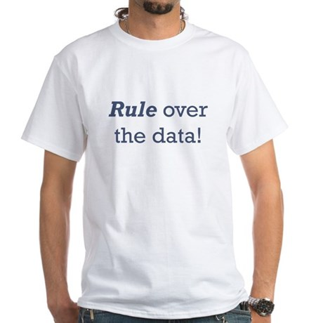 Rule / Data White T-Shirt