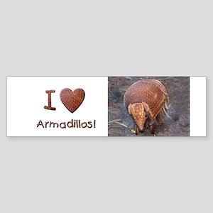 Helaines_Armadillo Sticker (Bumper)