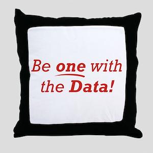 One / Data Throw Pillow