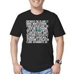 LOST Names Men's Fitted T-Shirt (dark)