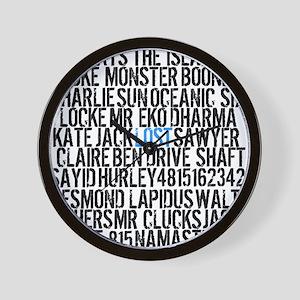 LOST Names Wall Clock