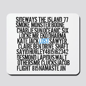 LOST Names Mousepad