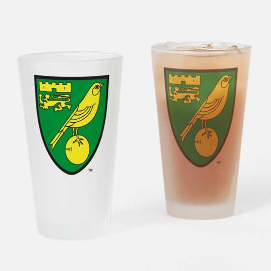 Norwich City FC Crest Drinking Glass