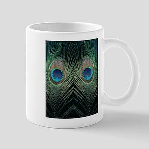 Dark Peacock Feather Mug