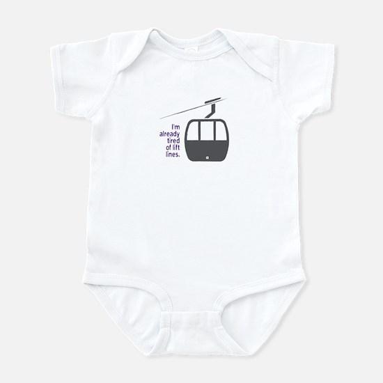 Snowsports Lines - Infant Bodysuit (Purple)