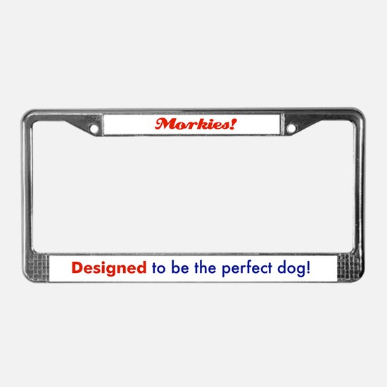 Unique Morkies License Plate Frame