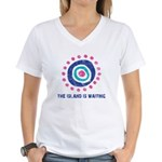 Island Is Waiting Women's V-Neck T-Shirt