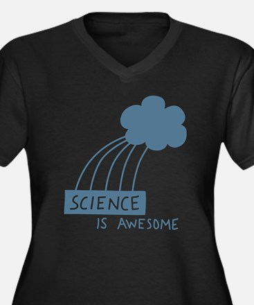Science is Awesome Women's Plus Size V-Neck Dark T