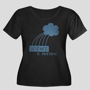 Science is Awesome Women's Plus Size Scoop Neck Da