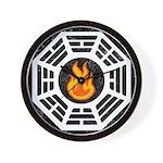 Dharma Flame Wall Clock